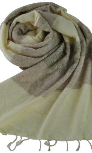 Nepal sjaals creme grijs - online bestellen -Shawls4you