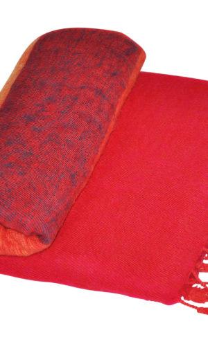 Tibet Plaid Rood gestreept - online bestellen ( Shawls4You