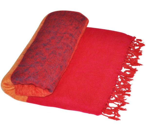 Tibet Plaid Rood gestreept – online bestellen ( Shawls4You