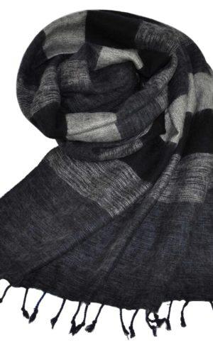 Yak Sjaal zwart grijs uit Nepal - online bestellen - shawls4you.nl