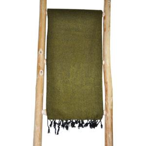 Yak Wol Sjaal Geel Groen - online bestellen -Shawls4you.nl