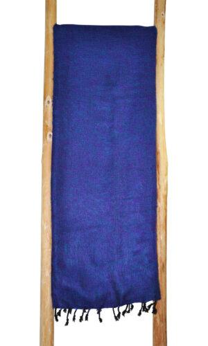 Yoga Plaid blauw paars van yak wol - online bestellen ( Shawls4You