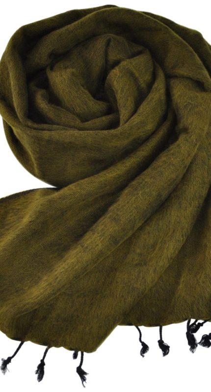 Yak Wol Sjaal Geel Groen – online bestellen -Shawls4you.nl