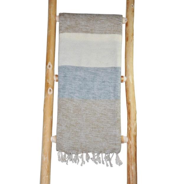 nepal sjaal grijs creme gestreept – online bestellen -Shawls4you
