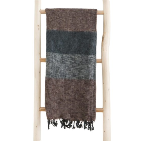 Nepal Omslagdoek Zwart Grijs Bruin- Online Bestellen – Shawls4you.jpg