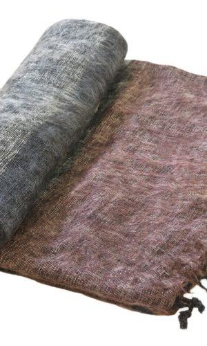 Nepal Plaid zwart grijs bruin- Online Bestellen - Shawls4you.nl