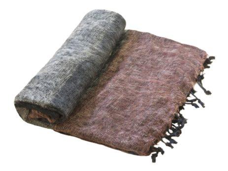 Nepal Plaid zwart grijs bruin- Online Bestellen – Shawls4you.nl