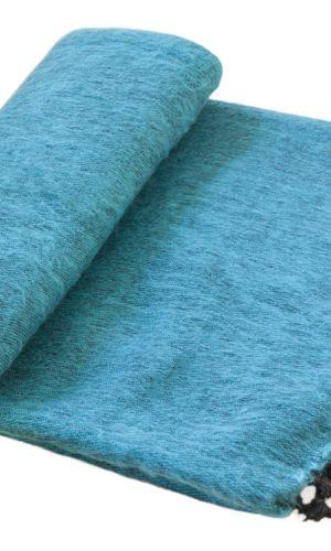 Nepal Deken Turquoise Paars Gestreept- Online Bestellen - Shawls4you.jpg