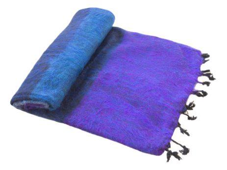 Nepal Deken Blauw Paars Gestreept- Online Bestellen – Shawls4you.jpg