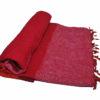 Nepal Deken rose rood oranje- Online Bestellen - Shawls4you
