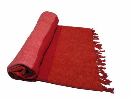 Nepal Deken rose rood oranje- Online Bestellen – Shawls4you