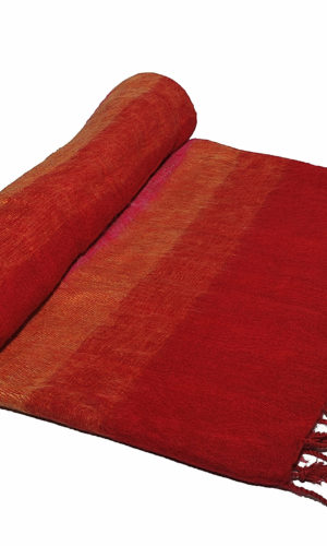 Nepal Deken rose geel oranje rood- Online Bestellen - Shawls4you