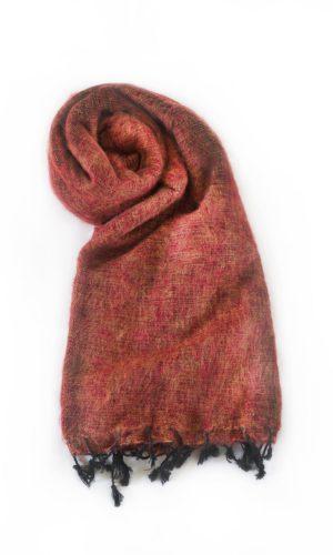 Omslagdoek Steenrood | Fairtrade | Nepal | online bestellen |shawls4you.nl