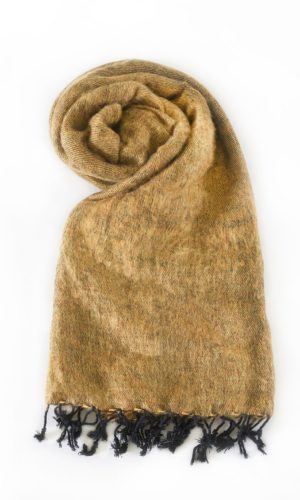 Omslagdoek Goudbruin | Fairtrade | online bestellen | www.shawls4you.nl