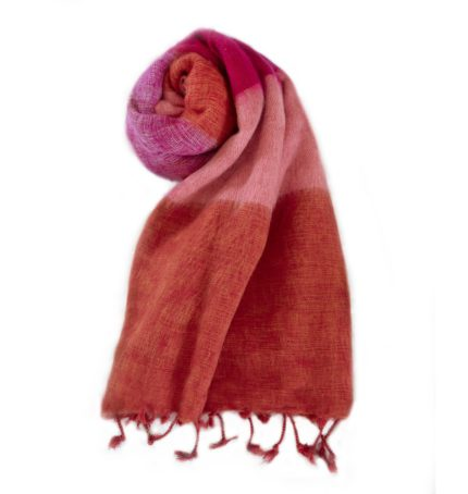 Nepal Omslagdoek Oranje Rose- online bestellen -Shawls4you.nl_02