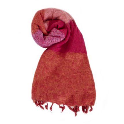 Nepal Omslagdoek Oranje Rood Rose – online bestellen -Shawls4you.nl