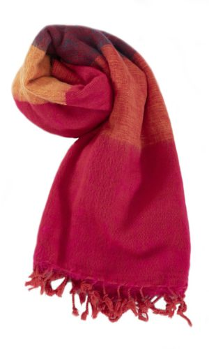 Nepal Omslagdoek Cyclaam Oranje Breed- online bestellen -Shawls4you.nl