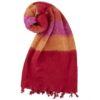 Nepal Omslagdoek Rood Geel Rose- online bestellen -Shawls4you.nl