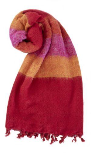 Omslagdoek Rood Geel Rose | Fairtrade | online bestellen | shawls4you.nl