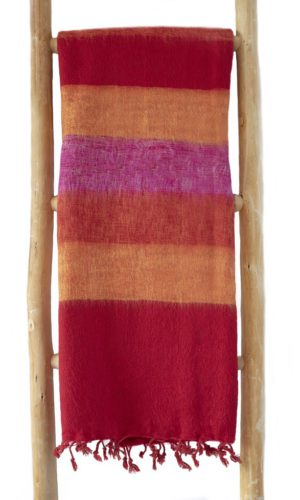 Nepal Omslagdoek Rood Geel Oranje- online bestellen -Shawls4you.nl