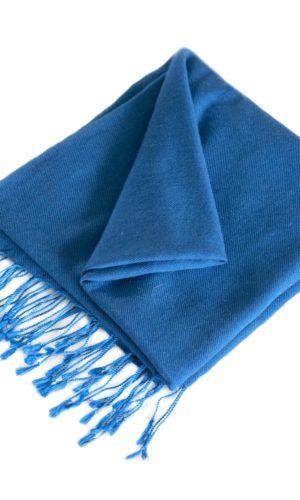 pashmina Blauw- cashmere wol omslagdoek