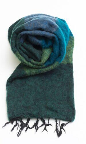 Groen gestreepte sjaal online kopen